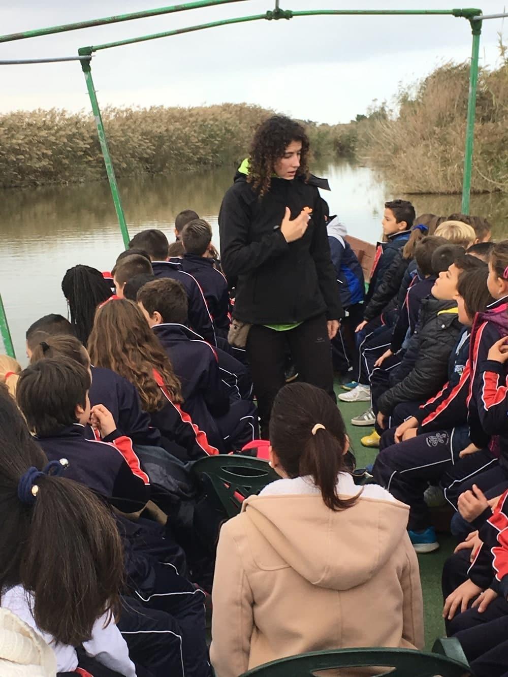 paseos en barca para grupos escolares
